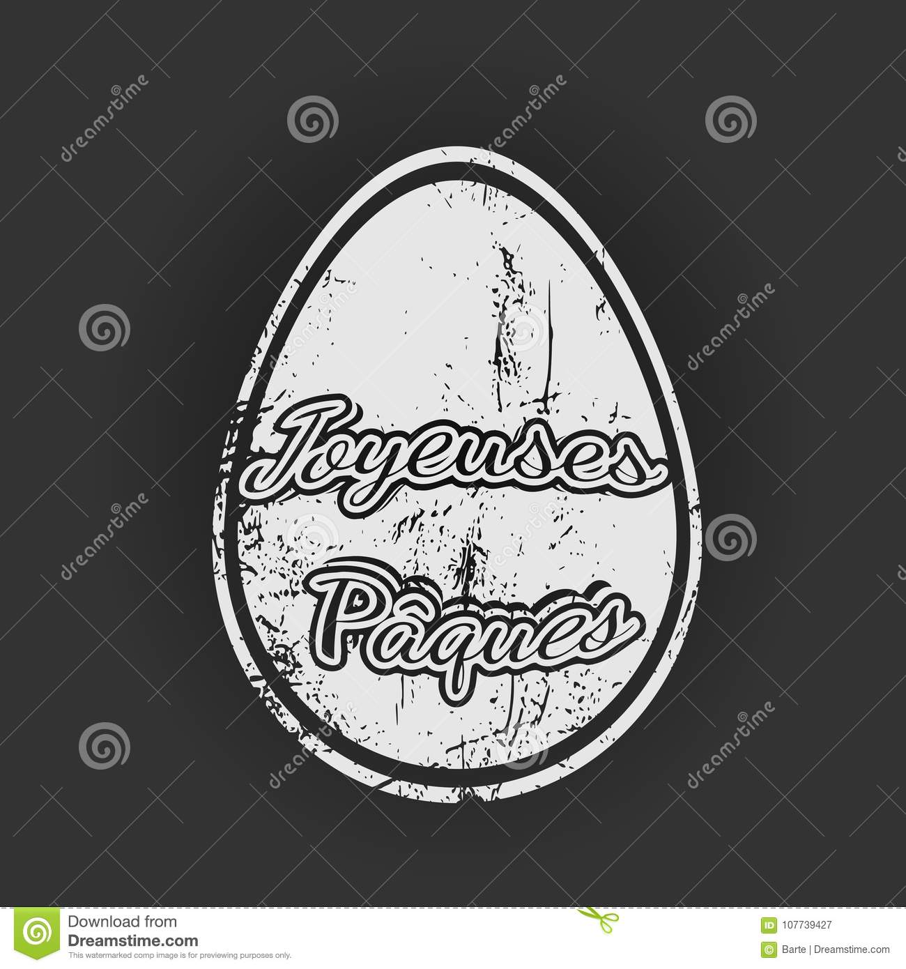 French happy easter greetings stamp stock vector illustration of french happy easter greetings stamp m4hsunfo