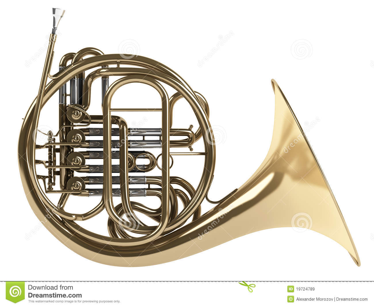 French Horn Royalty Free Stock Images - Image: 19724789