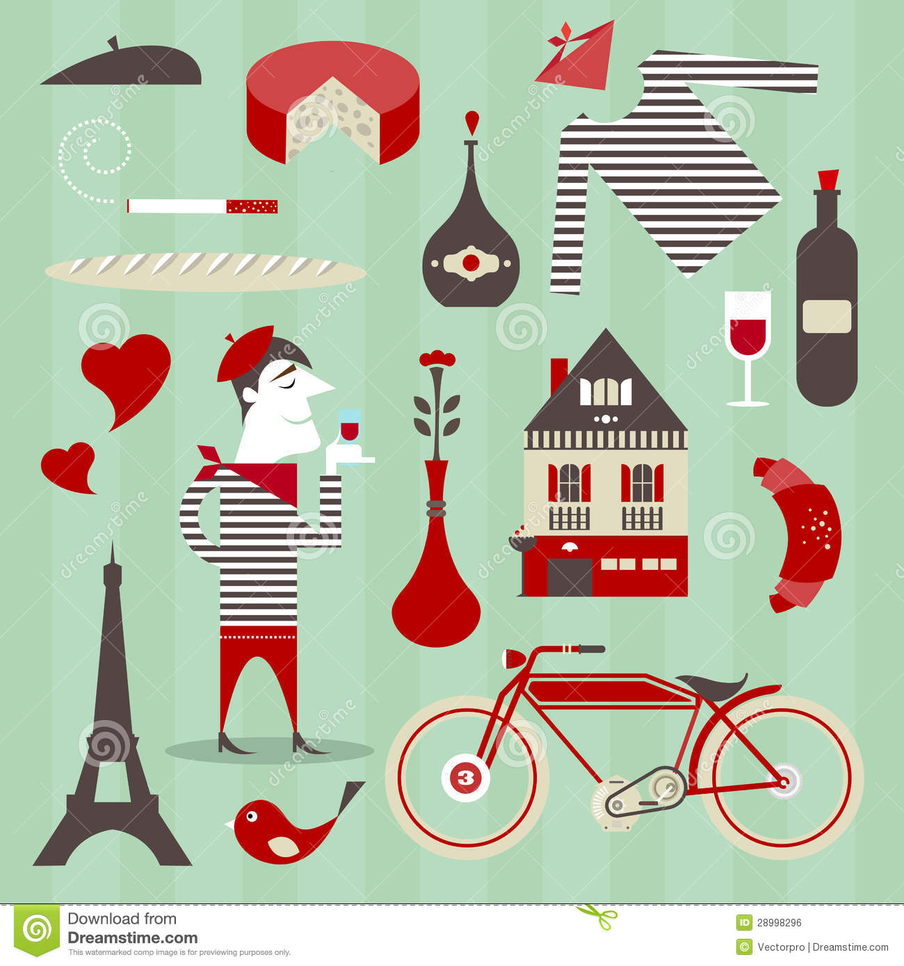 French Icons Royalty Free Stock Image - Image: 28998296