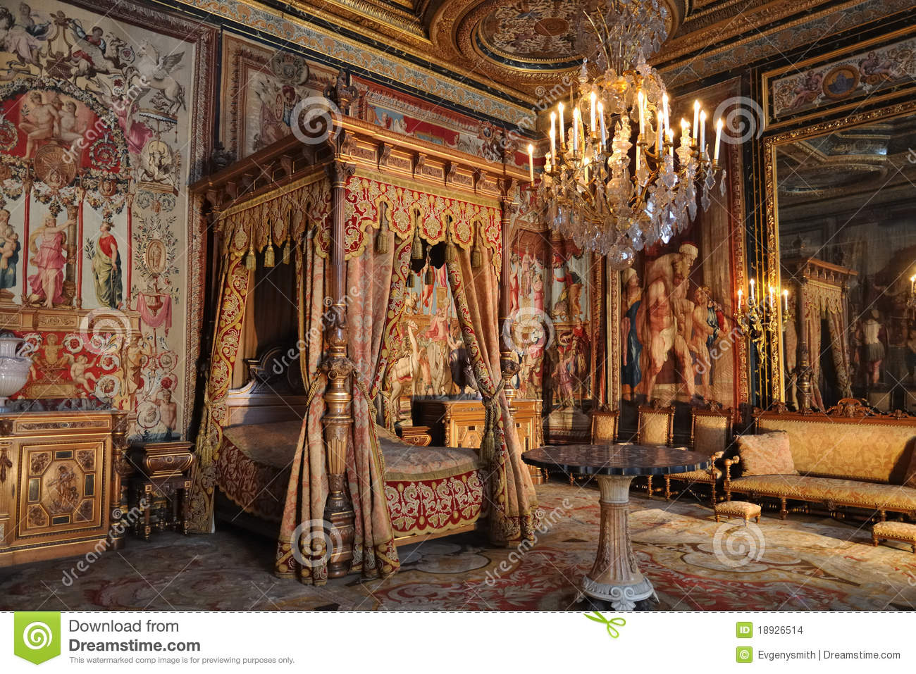 French King Bedroom Stock Images Image 18926514