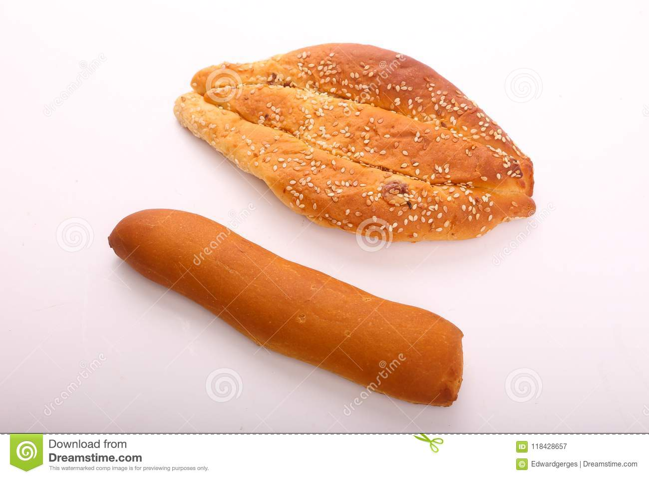 French loaf with bakery
