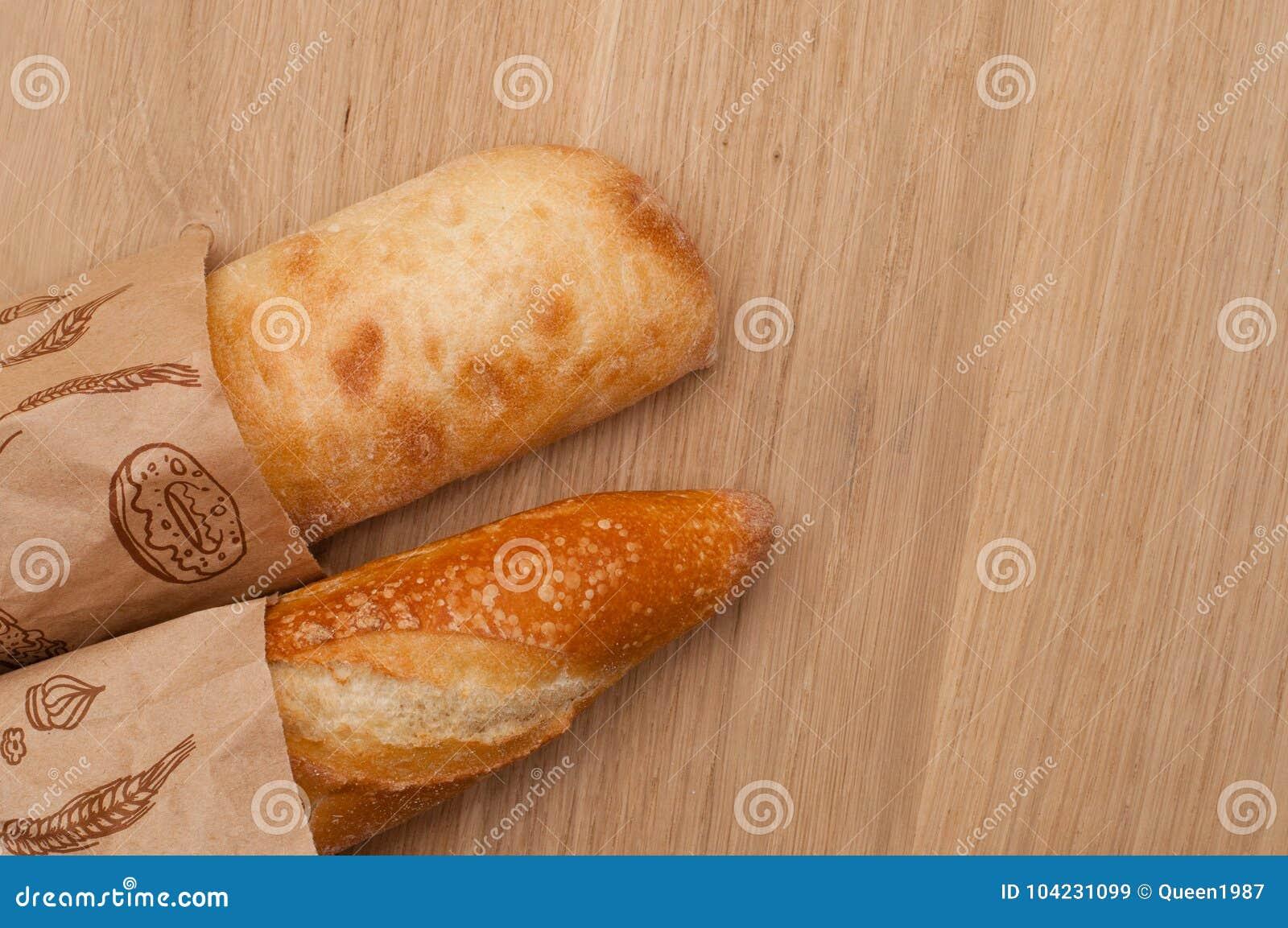 French loaf and Italian ciabatta bread