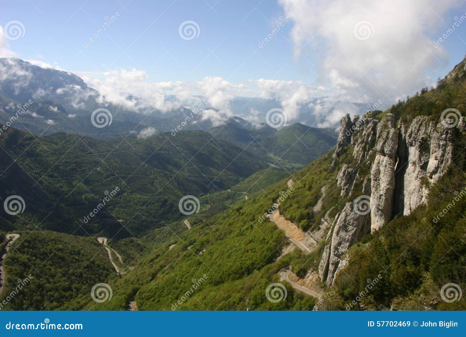 French lower alpine valley