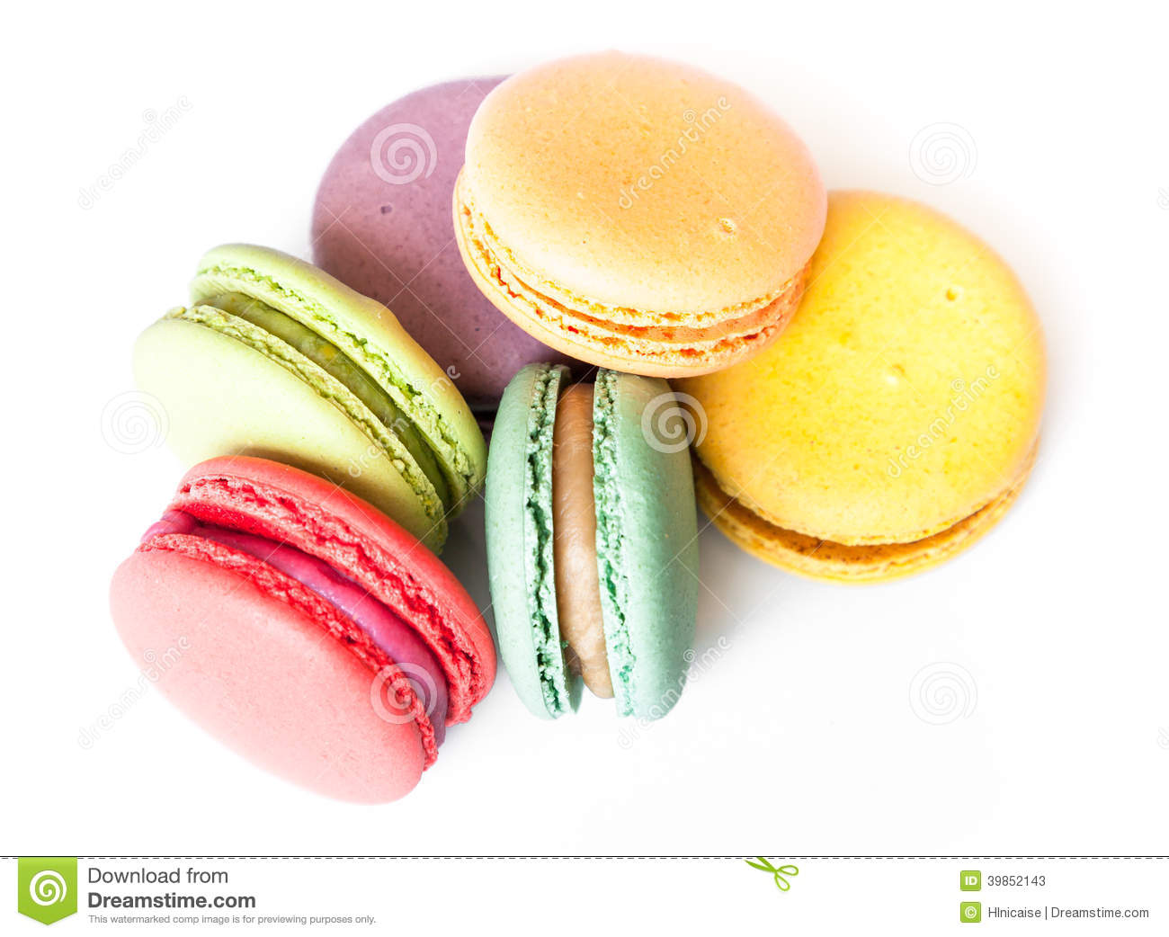 French Macaron Cookies Stock Photo - Image: 39852143