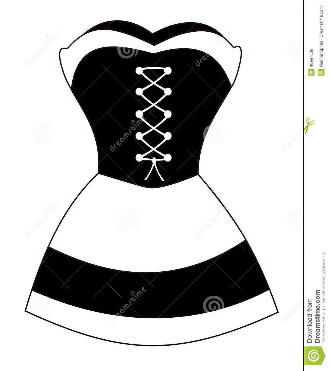 French Maid Stock Vector Illustration Of Clothing