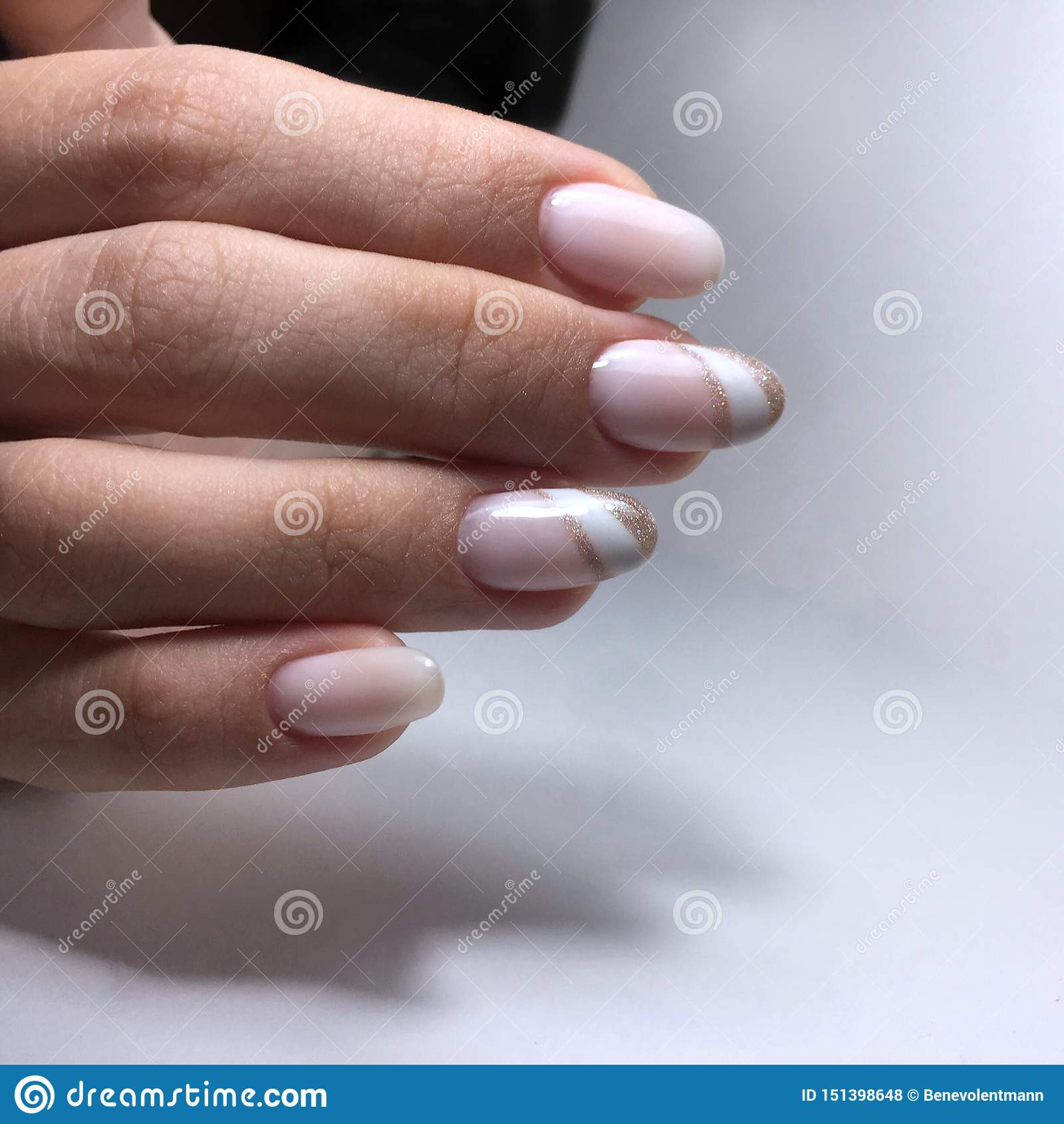 Permalink to Glitter French Manicure Designs