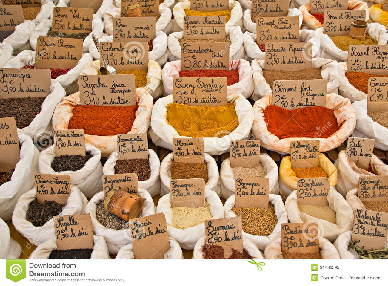 French Market Spices in bags