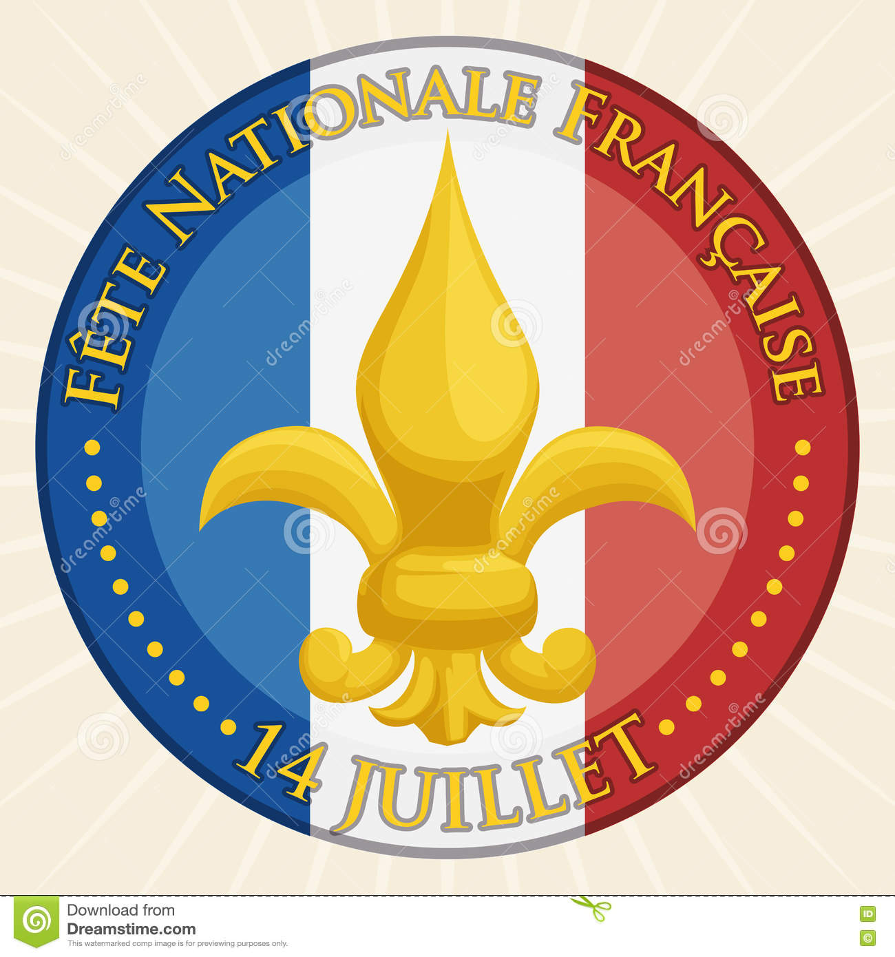 French National Symbol Fleur Delis Vector Illustration Stock