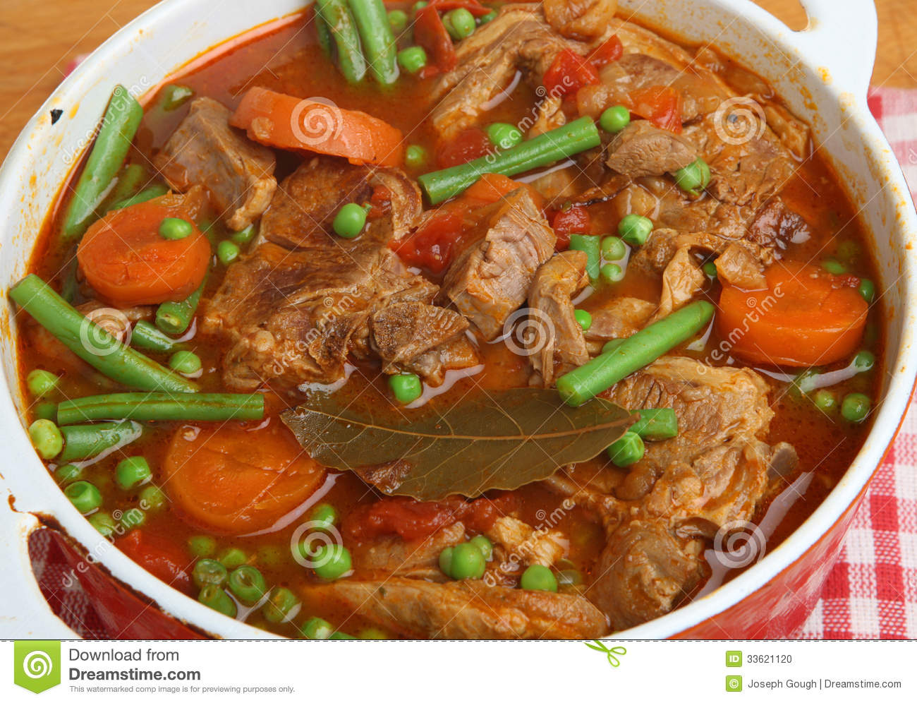 French Navarin Of Lamb Stew With Vegetables Stock Photo - Image ...
