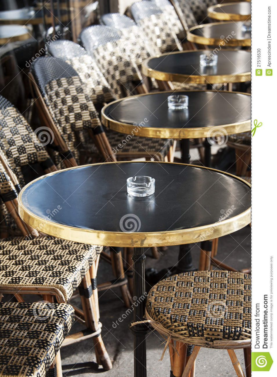 French outdoor cafe stock photo. Image of bistro, break ...