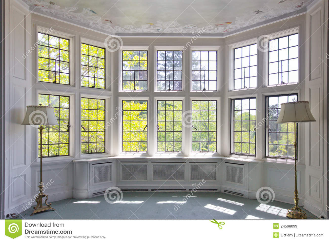 french pane window interior stock image image 24598099