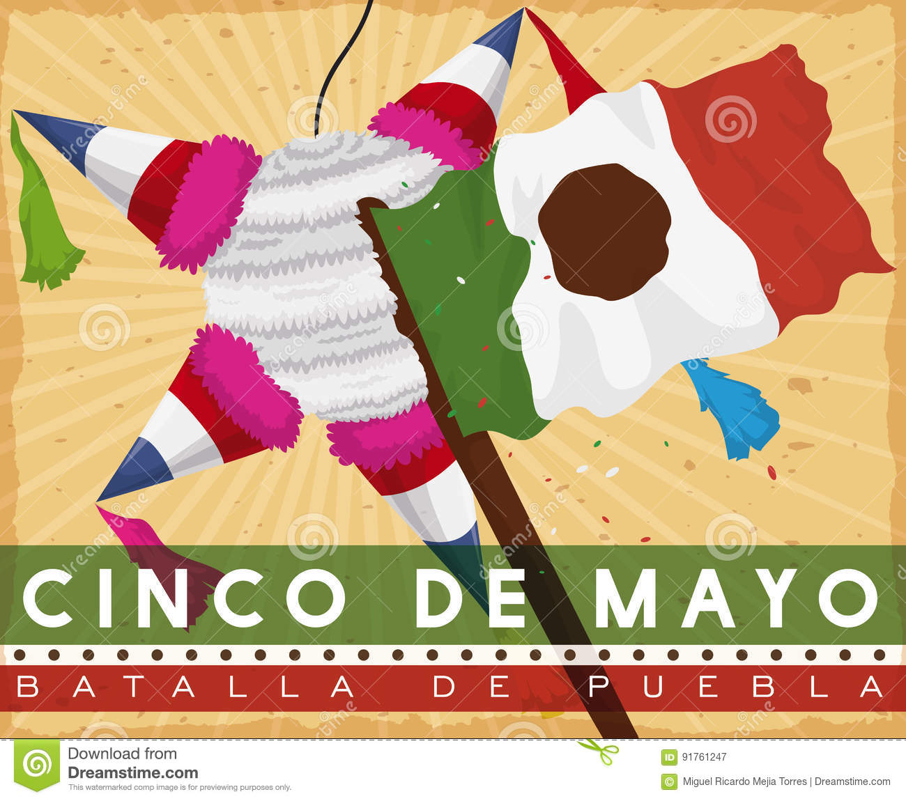 French Pinata Hit By Mexican Flag Commemorating Battle Of