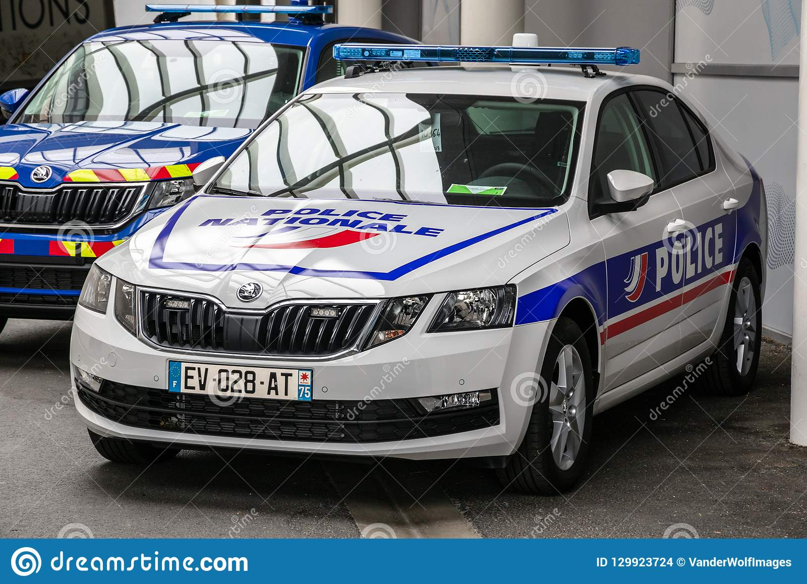 French Police Nationale Patrol Car Editorial Stock Image Image Of
