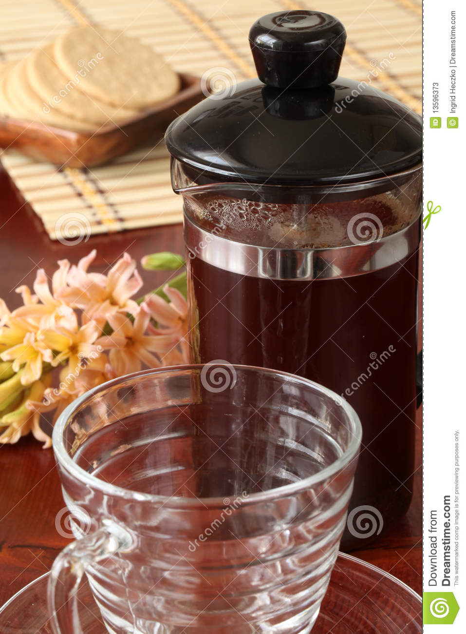 Pink French Press Coffee Maker : French Press With Coffee Stock Photos - Image: 13596373