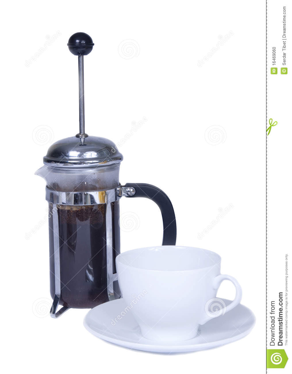 French Press Coffee Maker Stock Photo - Image: 16469060