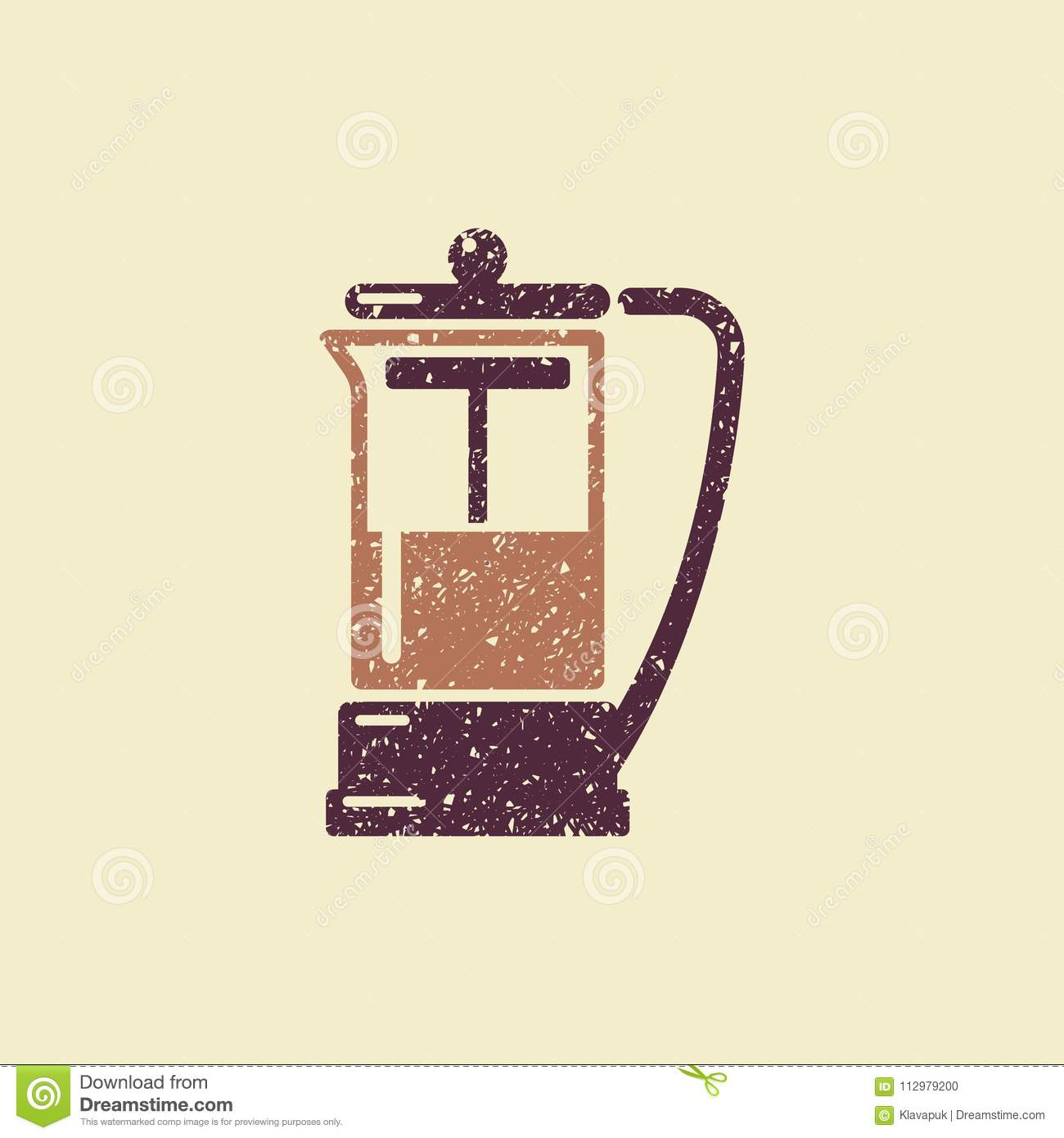 French press vector icon
