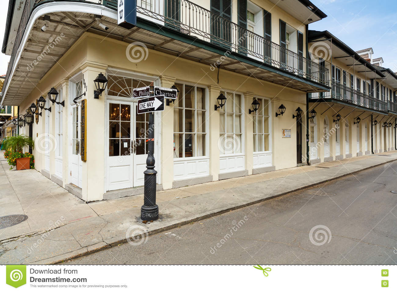 French Quarter Cityscape Editorial Image Image Of Chateau 71887575