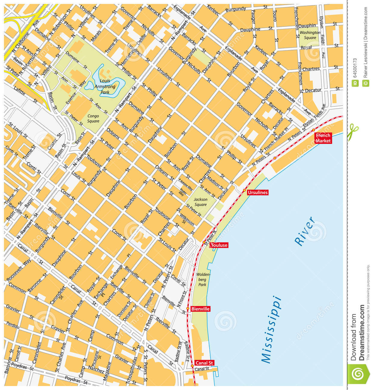 New Orleans French Quarter Tourist Map New Orleans French Quarter - Usa map states new orleans