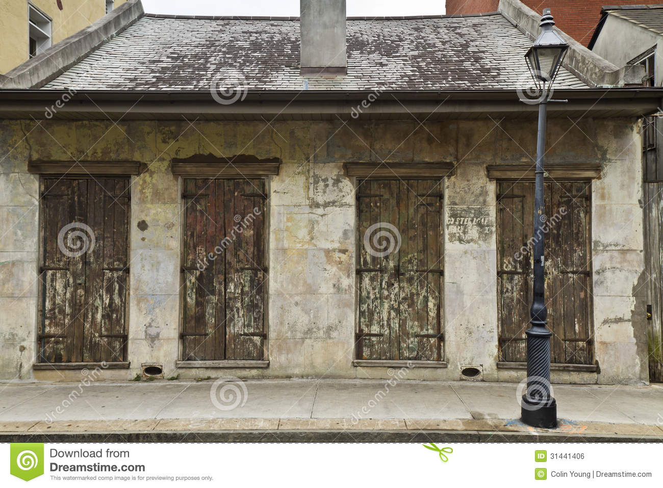 French Quarter Weathered Shutters Royalty Free Stock Image Image 31441406