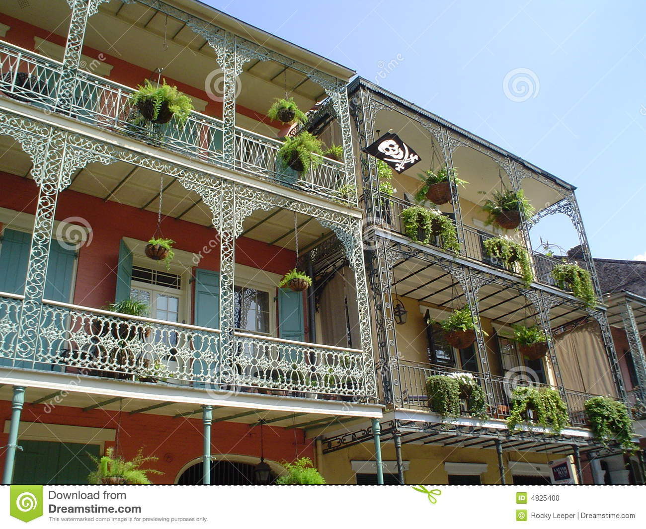 French quarter wrought iron balcony stock photo image for Balcony french