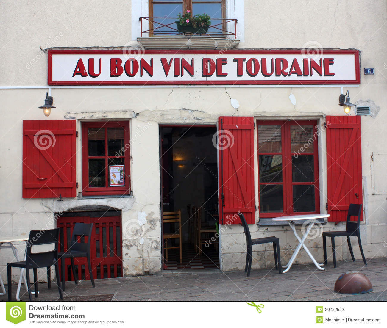 restaurant at azay le rideau editorial photography image 20722522