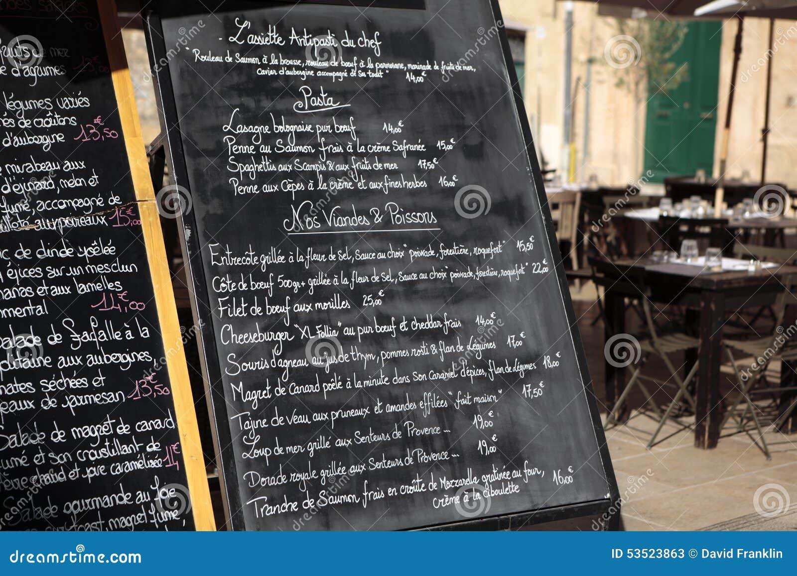 Sunny Street Cafe Menu