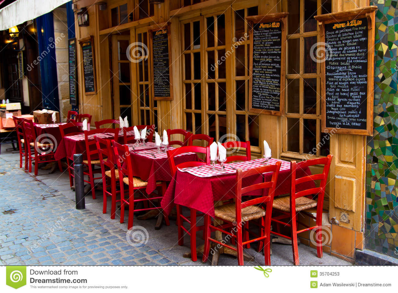French restaurant stock image image of europe glass for Restaurant cuisine francaise paris