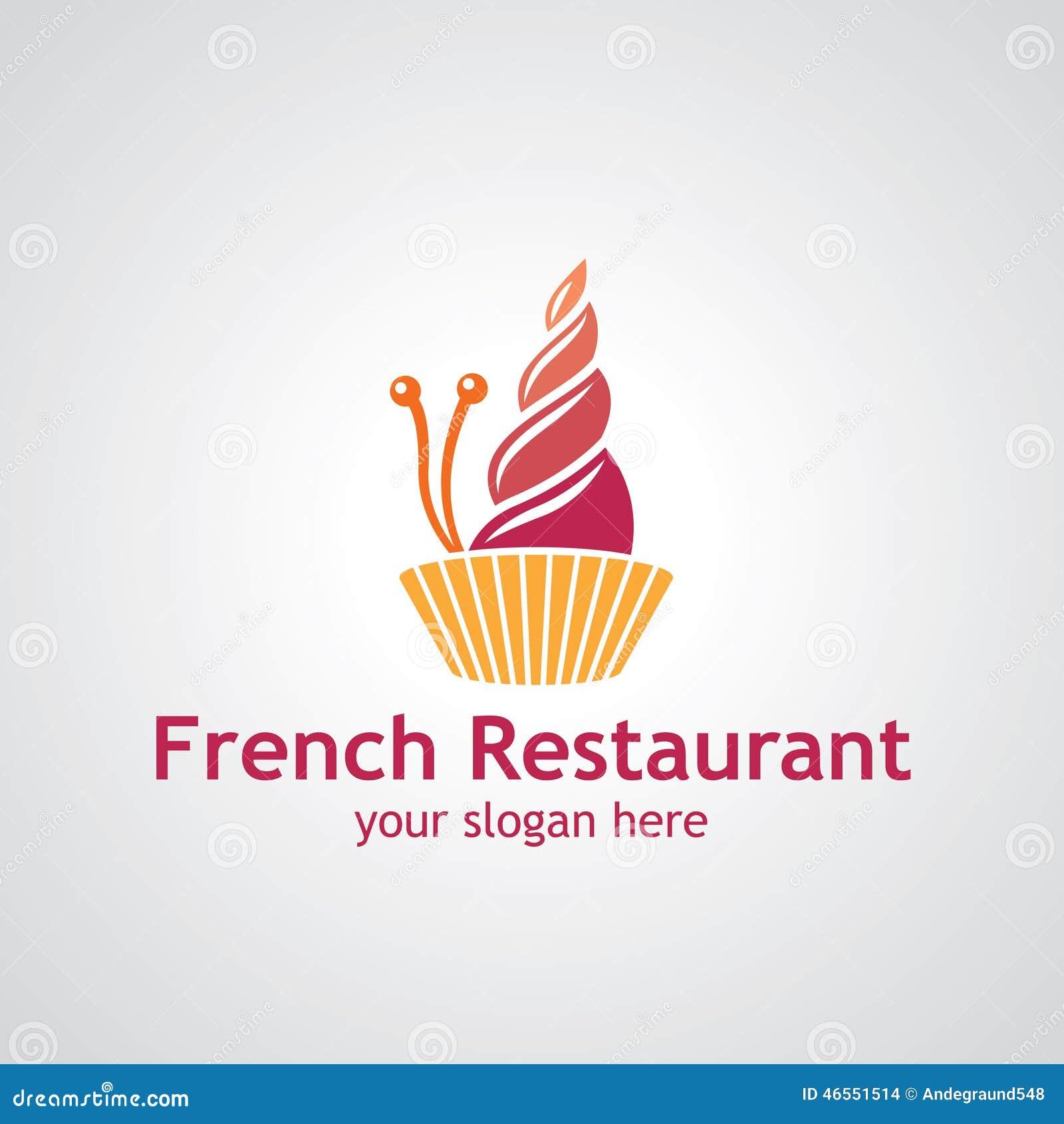 French Restaurant Vector Logo Design Stock Vector - Image ...
