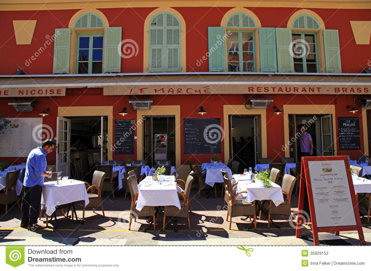 French restaurants on the cours saleya nice france for Restaurant cuisine nicoise nice