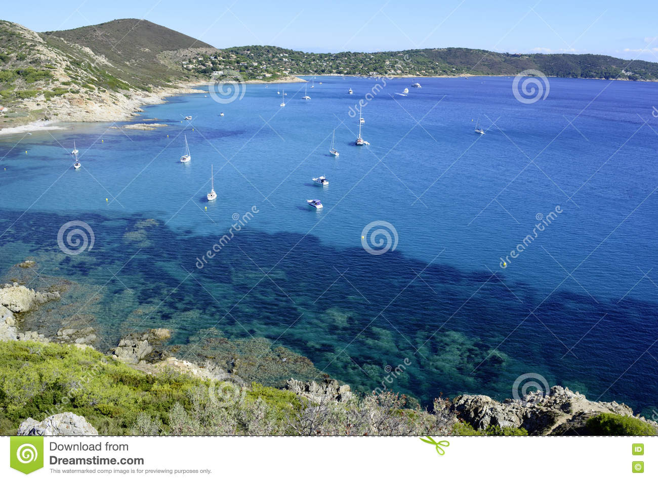 French Riviera Beaches Near To Saint Tropez Stock Image Image Of