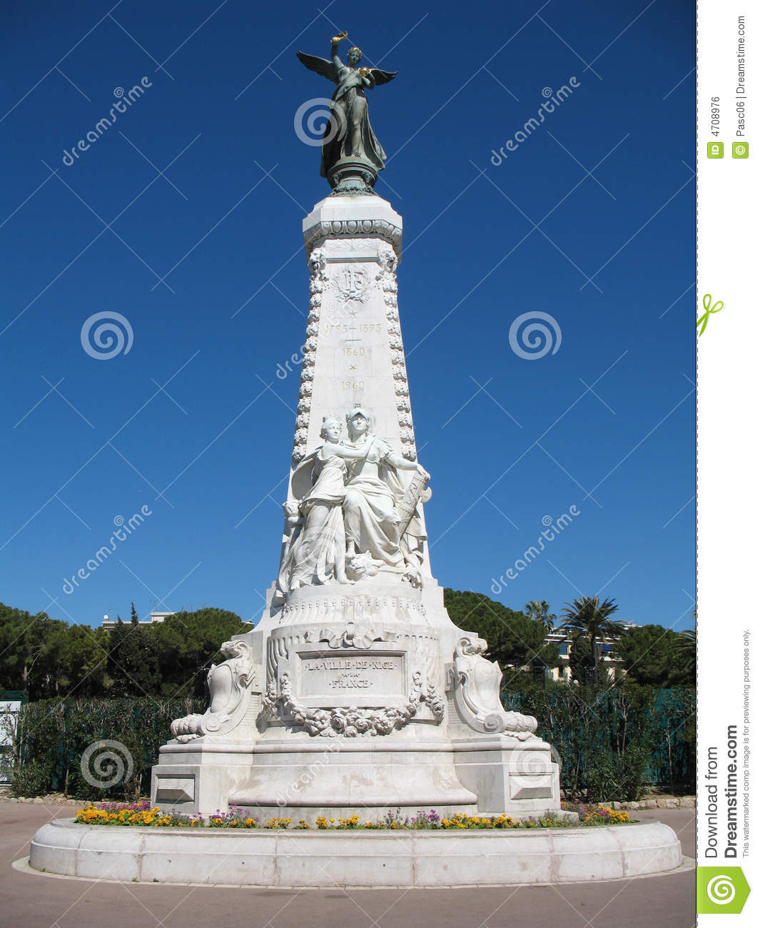 French Riviera monument in Nic