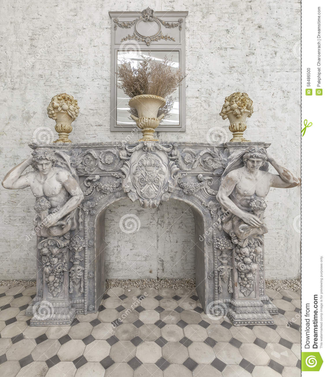French rococo style stock photo image 58486500 for Decoration platre style francais
