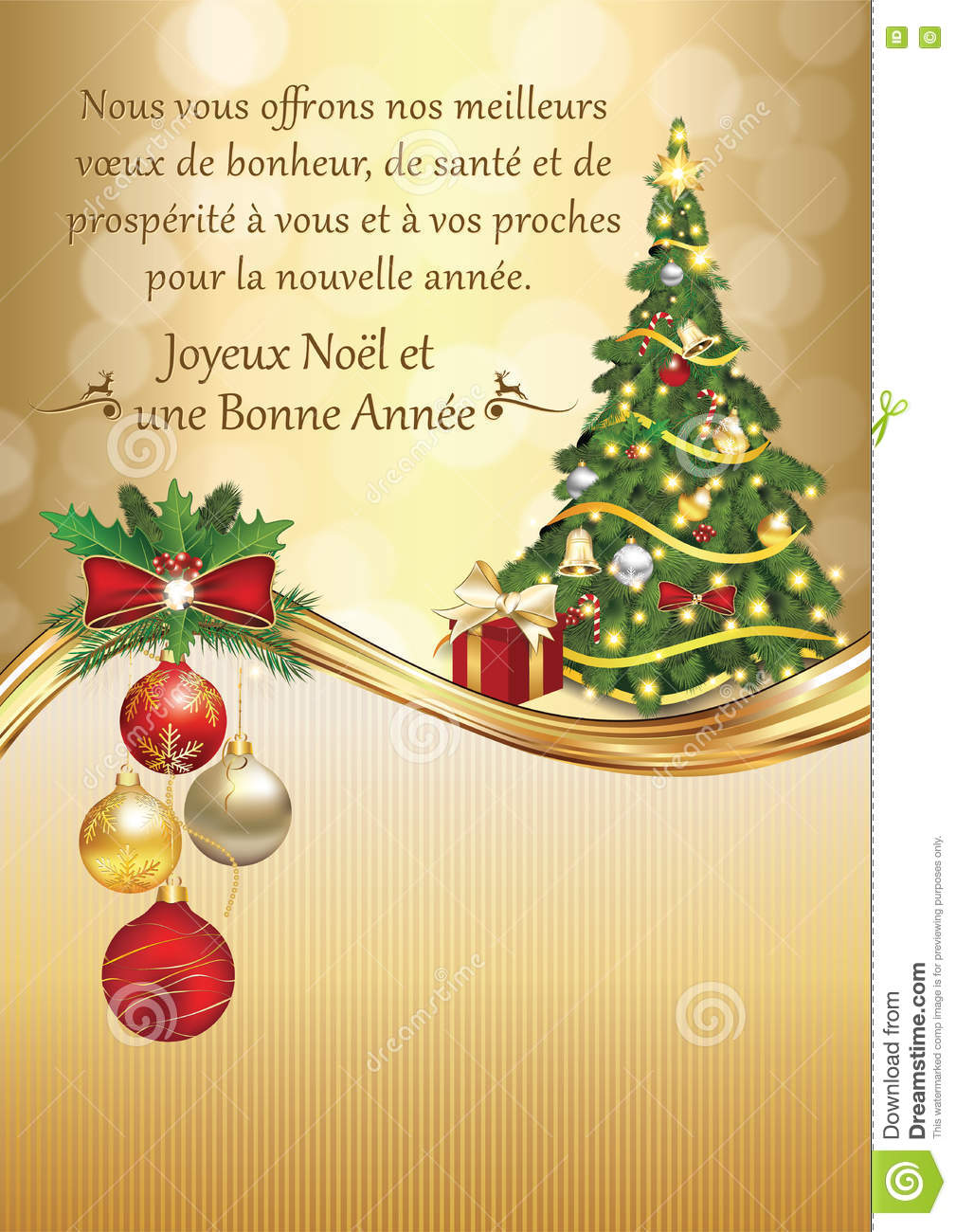 French seasons greetings for new year stock illustration french seasons greetings for new year kristyandbryce Choice Image