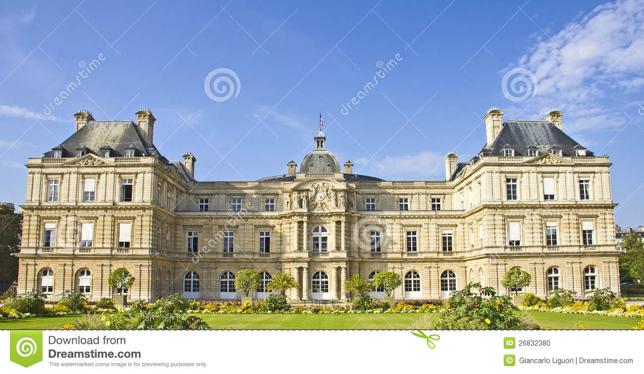 French senate jardin du luxembourg stock photo image for Jardin in french