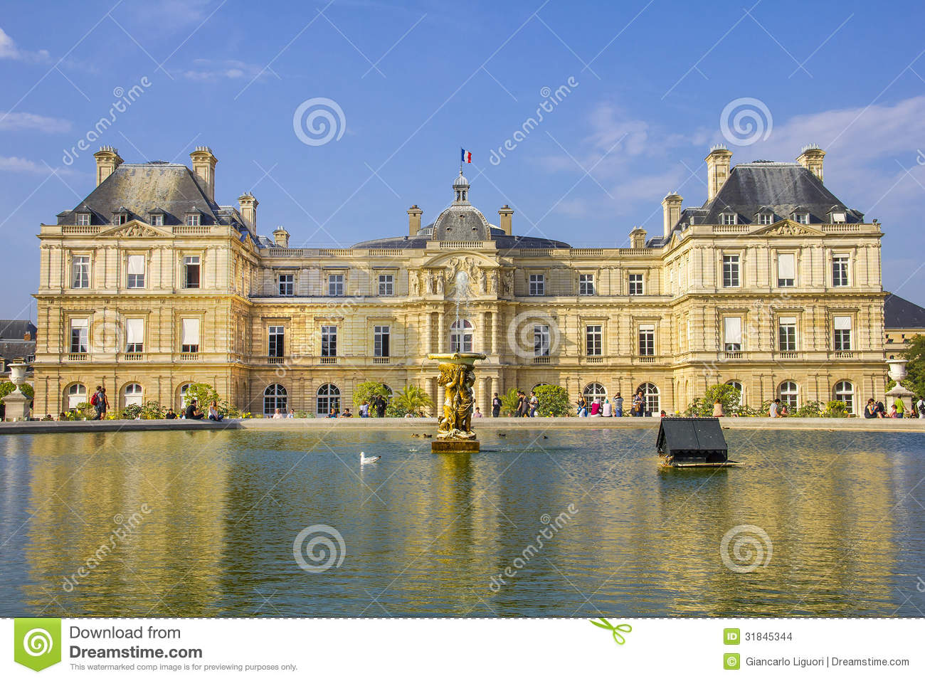 French senate and the jardin du luxembourg stock photo for Jardin luxemburgo