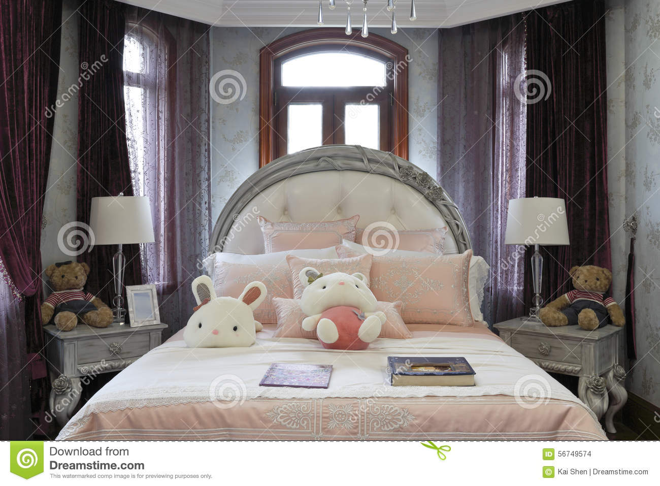 French Style Of The Bedroom Stock Photo - Image of carpet ...