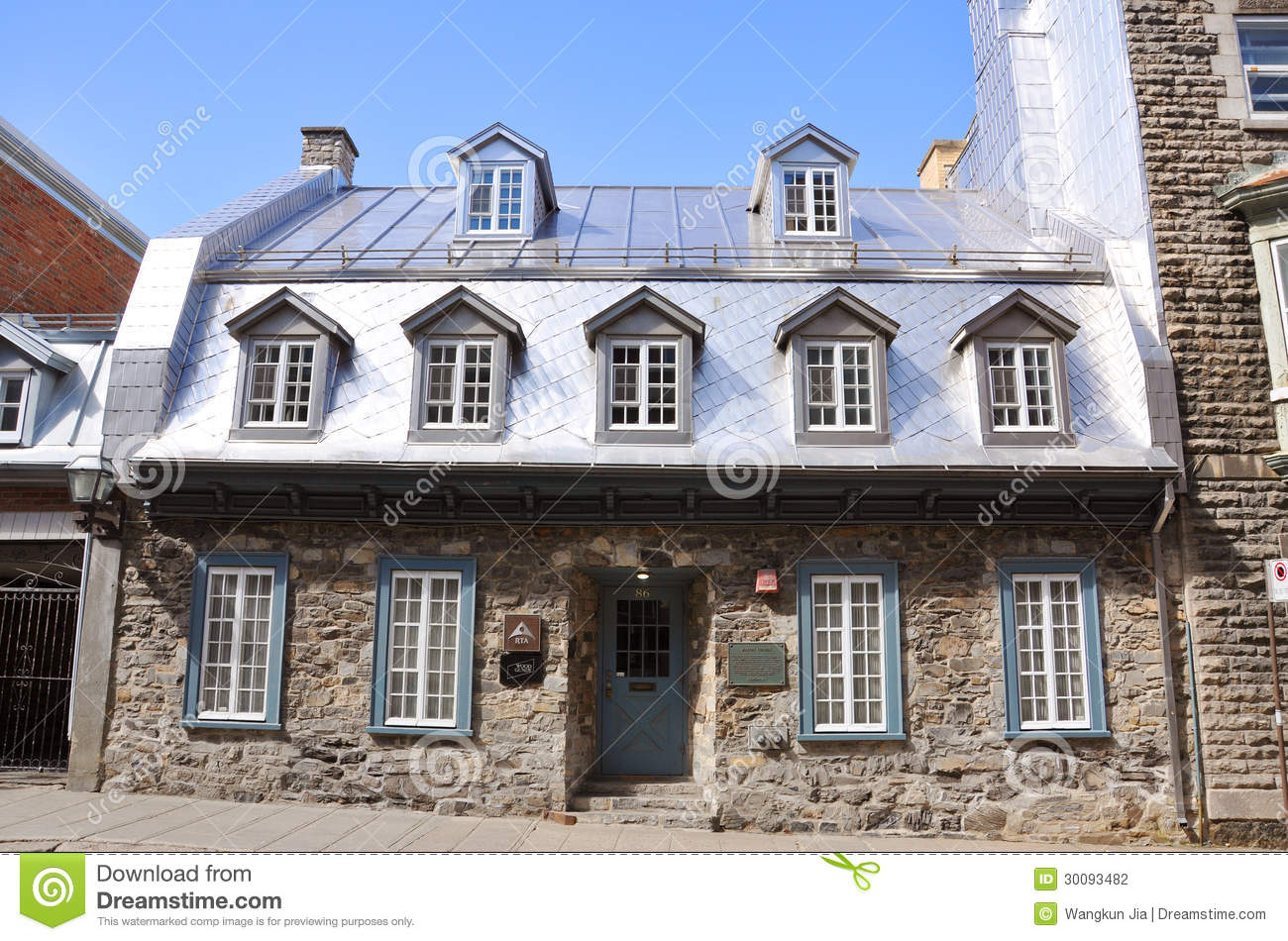 French style house in old quebec city canada editorial for Canadian house styles