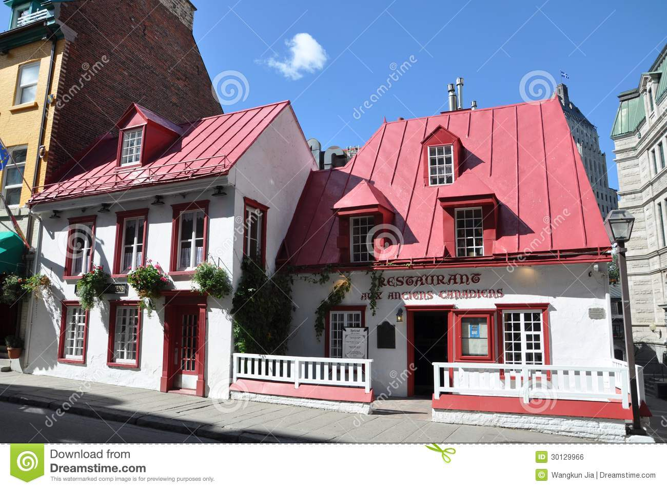 French Style House In Old Quebec City Editorial Photo Image Of