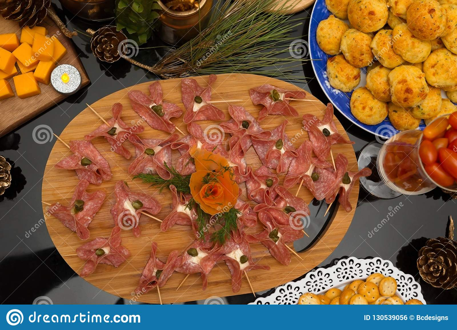 French Style Party Platter With Decorations Stock Photo Image Of Tasty Brunch 130539056