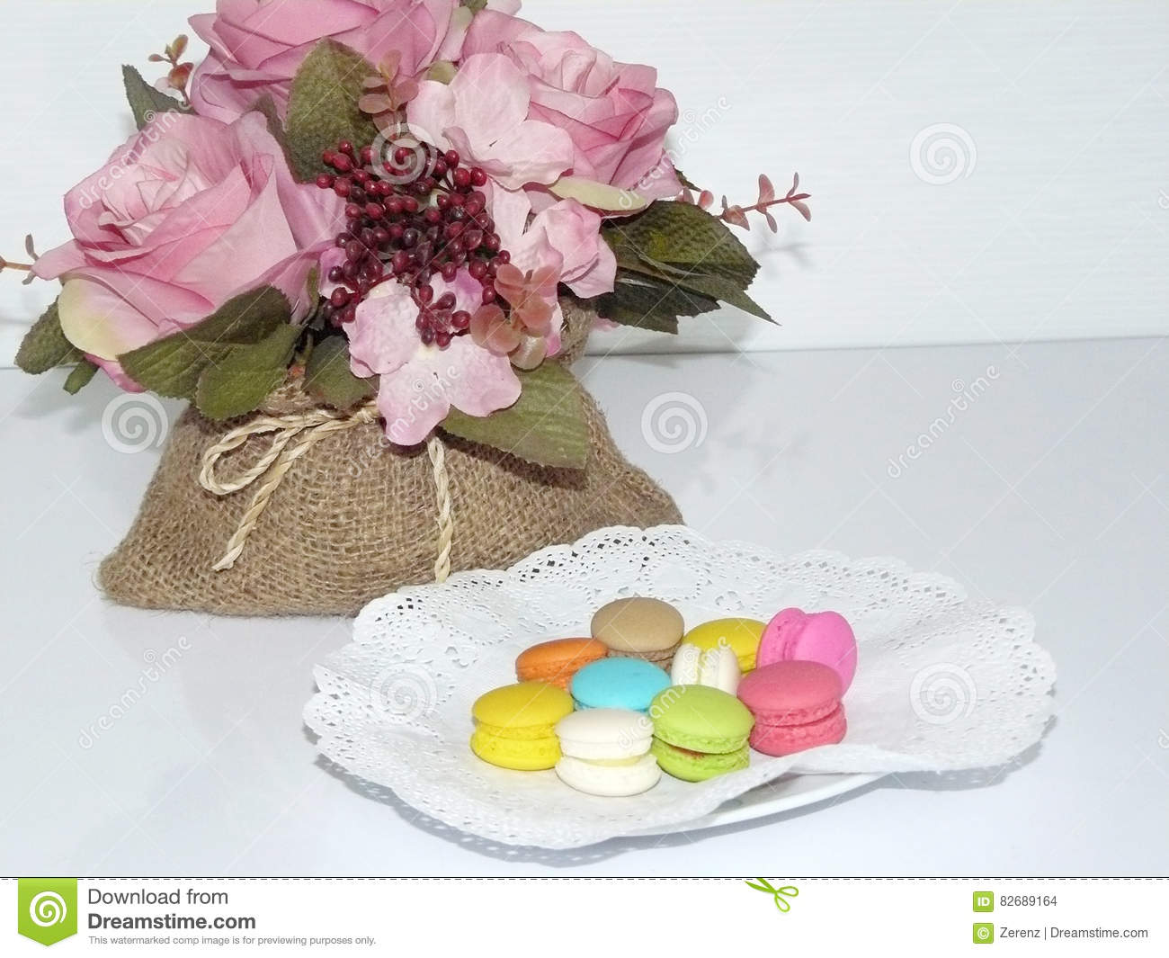 French Sweet Delicacy Macarons Stock Photo Image Of France