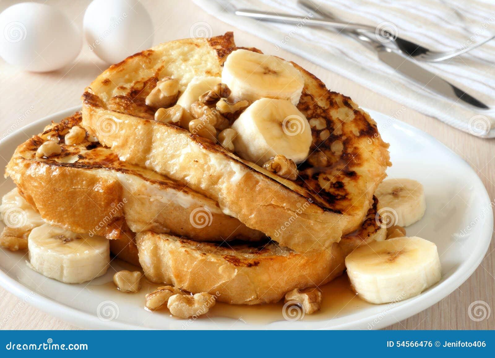 Bananas Toast At Street Shop Stock Photo | CartoonDealer.com #76446456