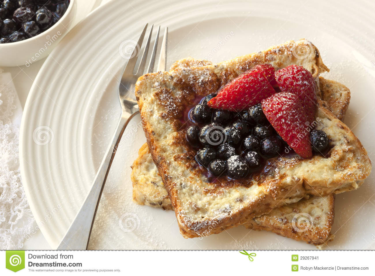 French Toast With Berries Stock Image - Image: 29267941