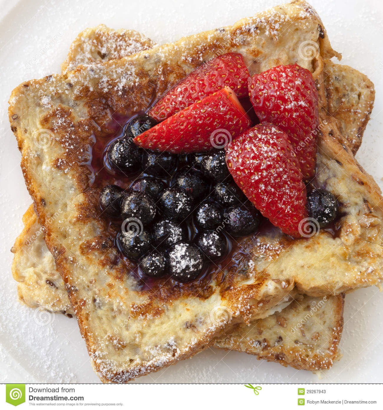 French Toast With Berries Stock Photos - Image: 29267943