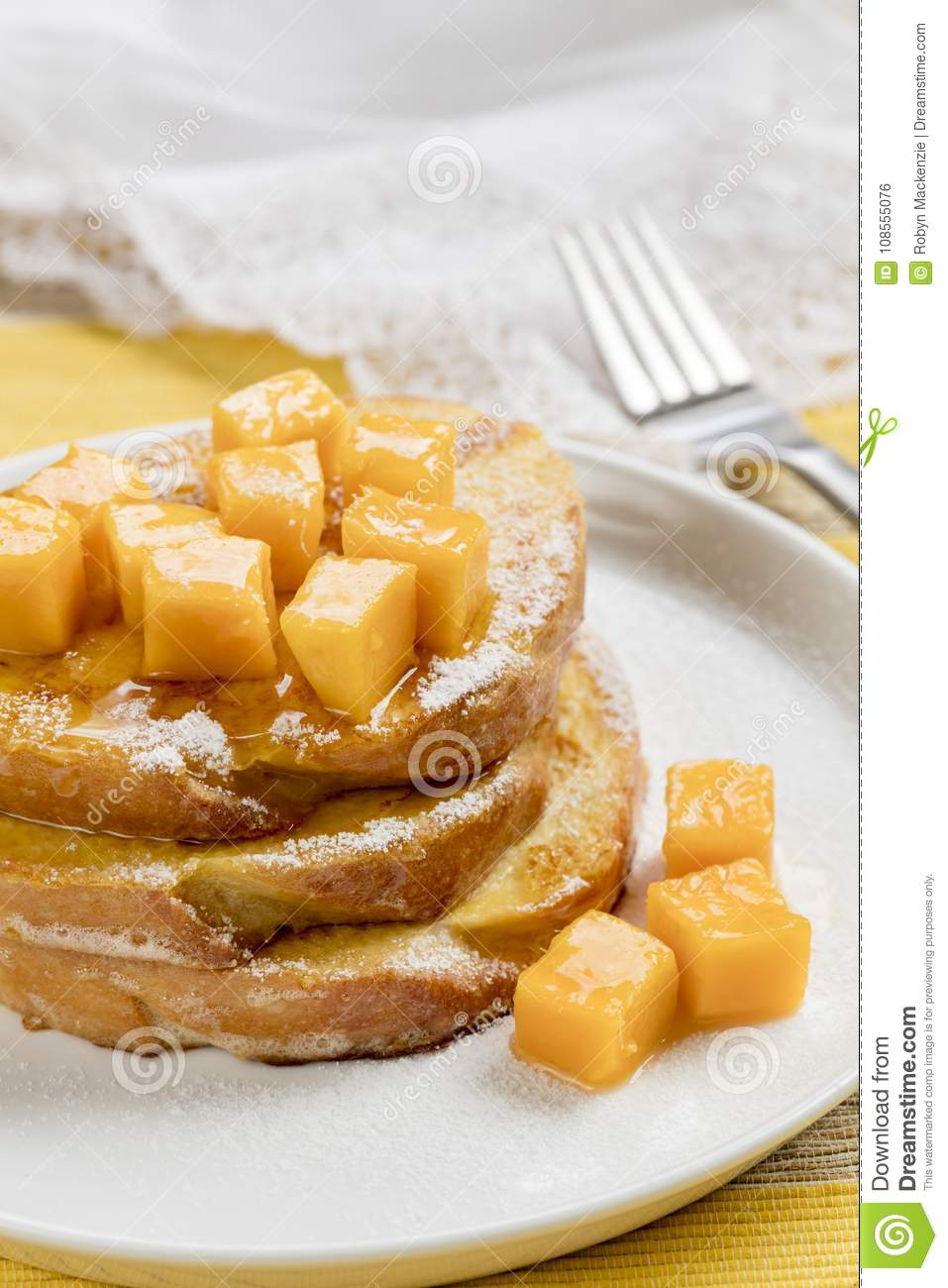French Toast with Fresh Mango