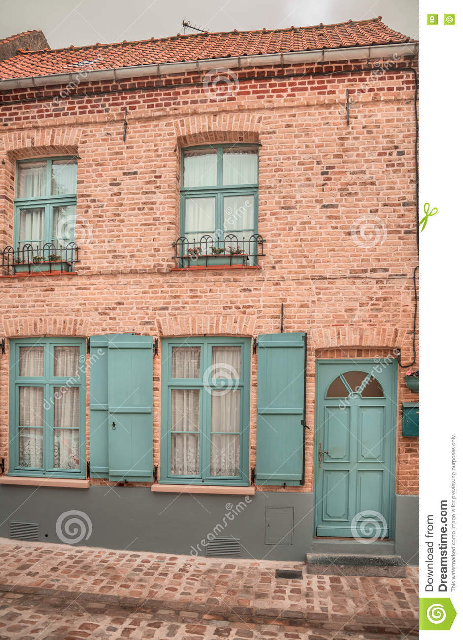 French Traditional House European Flavour Stock Photo Image Of