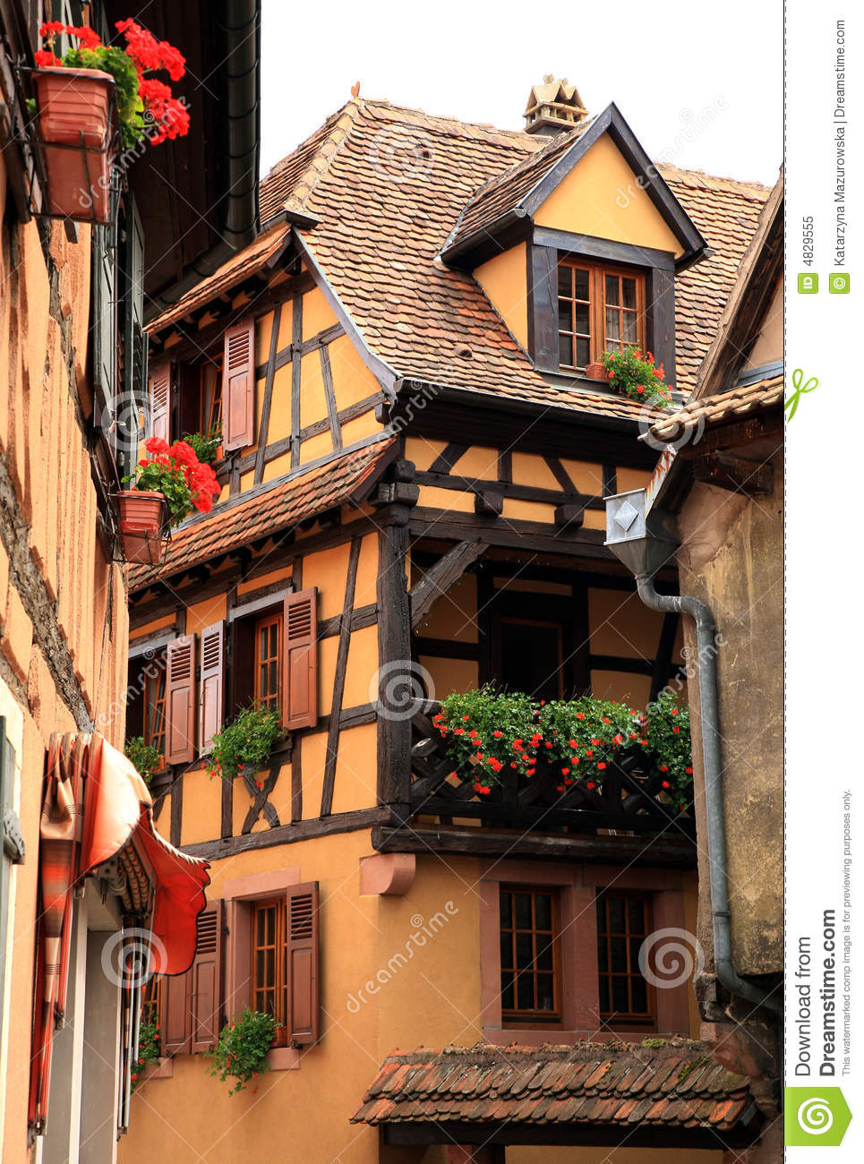French Village Alsace France Royalty Free Stock Photo