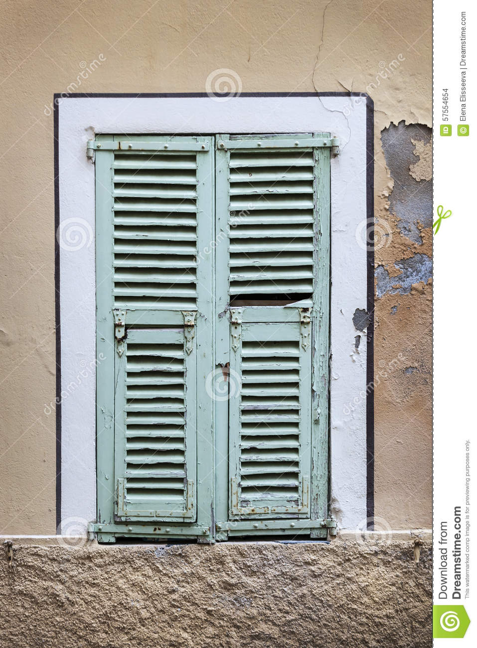 French Window With Shutters Stock Photo Image 57554654