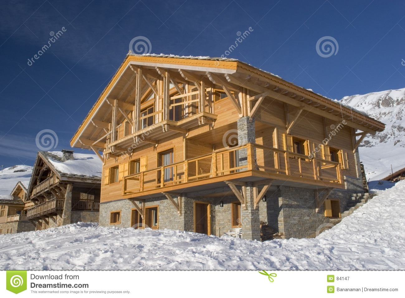 French wooden chalet stock image image of roofs for French chalet house plans