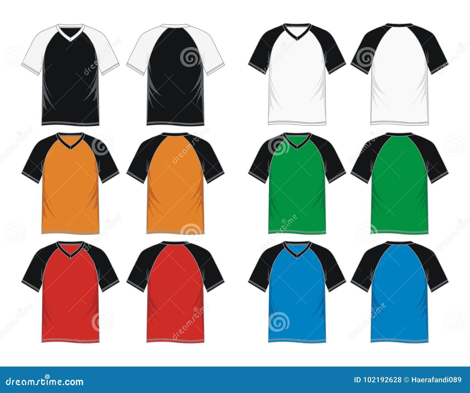 Frente Con Cuello De Pico De La Plantilla De La Camiseta, Parte ...