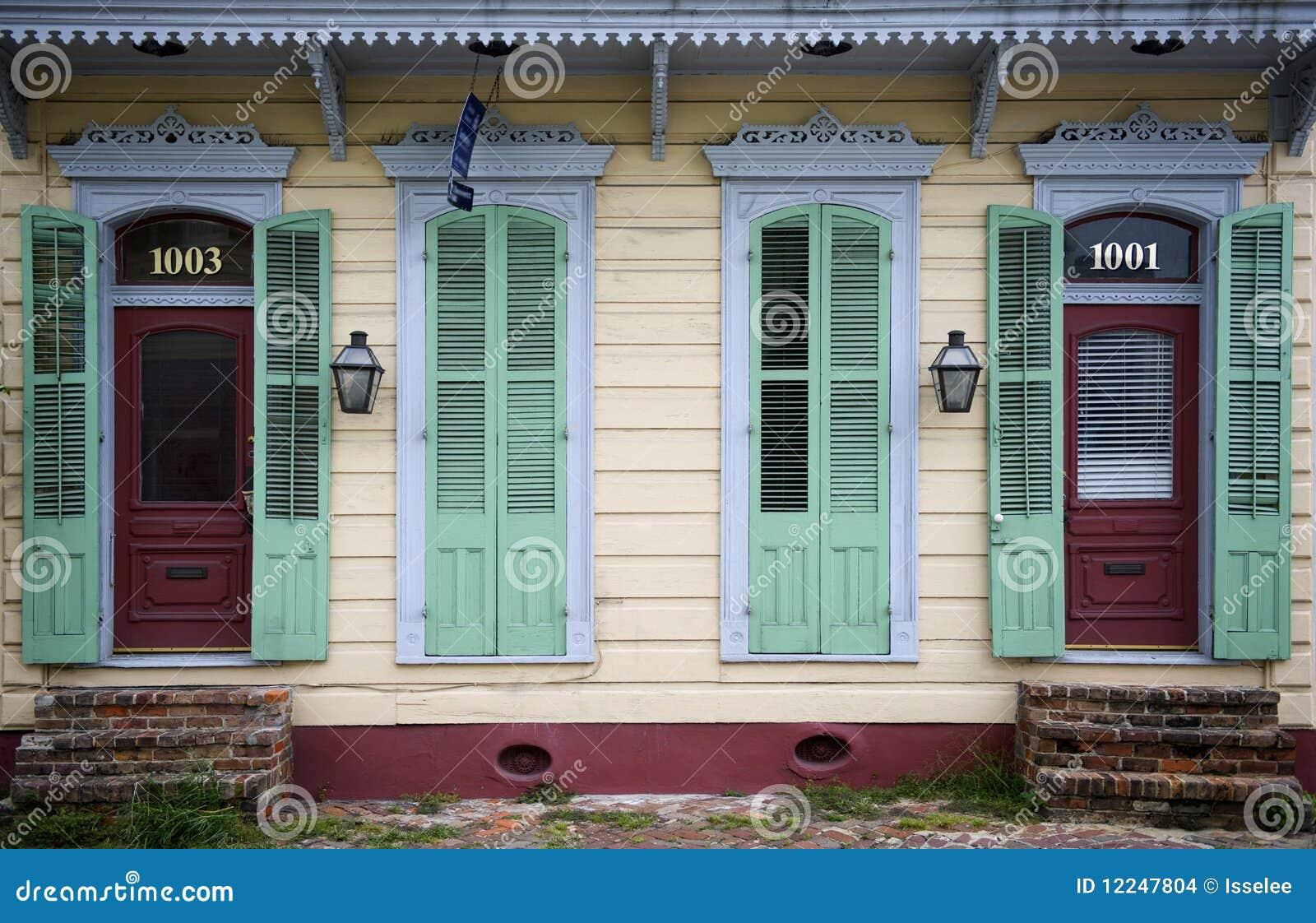 Frente de la casa en New Orleans, Luisiana